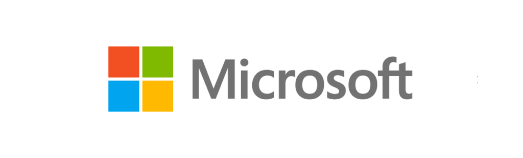 Microsoft - Logo, Fundo Branco, Horizontal